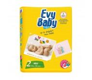 EVY BABY Bebek Bezi Kremli İkiz Paket Mini 2 Beden (3-6 kg) 54`li
