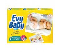 EVY BABY Bebek Bezi Kremli İkiz Paket Yenidoğan 1 Beden (2-5 kg) 44`lü