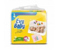 EVY BABY Bebek Bezi Kremli Jumbo Paket Mini 2 Beden (3-6 kg) 80`li