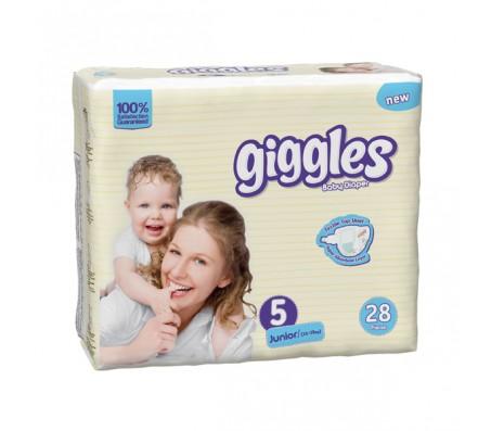 Giggles Bebek Bezi Junior İkiz Paket 5 Beden (11-25 kg) 28'li