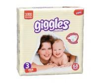 Giggles Bebek Bezi Jumbo Paket Midi 3 Beden (5-9 kg) 68'li