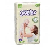 Giggles Bebek Bezi Mini İkiz Paket 2 Beden (3-6 kg) 44'lü