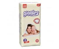 Giggles Bebek Bezi Midi İkiz Paket 3 Beden (5-9 kg) 44'lü