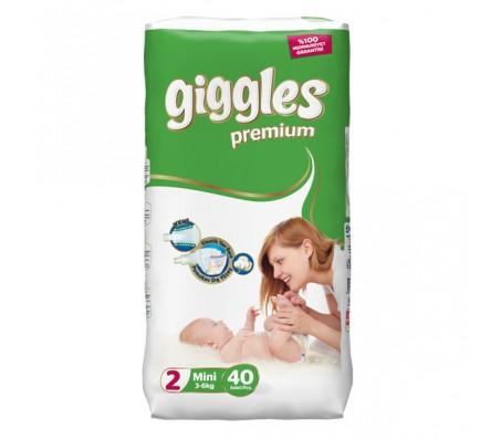 Giggles Premium Bebek Bezi Mini 2 Beden (3-6 kg) 40'lı