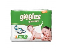 Giggles Premium Bebek Bezi Maxi 4 Beden (7-18 kg) 32'li