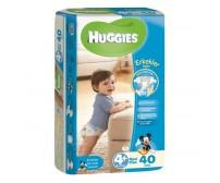 HUGGİES Bebek Bezi Jumbo Erkek 4+ Beden (9-20 kg) 40'lı