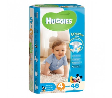 HUGGİES Bebek Bezi Jumbo Erkek 4 Beden (7-18 kg) 46'lı
