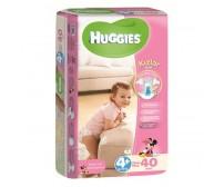 HUGGİES Bebek Bezi Jumbo Kız Paket 4+ Beden (9-20 kg) 40'lı