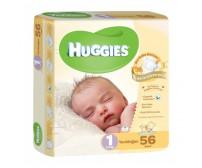 HUGGİES Bebek Bezi Jumbo Unisex Paket 1 Beden (2-5 kg) 56'lı
