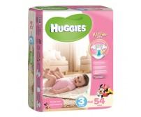 HUGGİES Bebek Bezi Midi Kız 3 Beden (4-6 kg) 54`lü