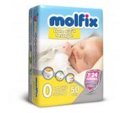 MOLFİX Bebek Bezi Extra Küçük Yenidoğan 0 Beden (1,5-3 kg) 50`li