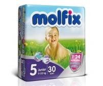 MOLFİX Bebek Bezi 7/24 İkiz Paket Junior 5 Beden (11-25 kg)  30`lu