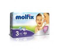 MOLFİX Bebek Bezi 7/24 İkiz Paket Midi 3 Beden (4-9 kg) 46`lı