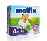 MOLFİX Bebek Bezi 7/24 İkiz Paket Maxi 4 Beden (7-18 kg) 40`lı