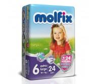 MOLFİX Bebek Bezi 7/24 İkiz Paket 6 Beden (16+ kg) Extra Large 24'lü