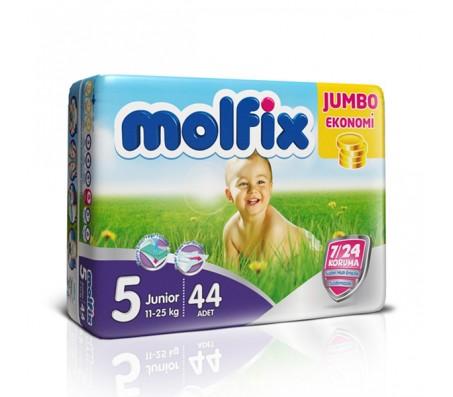 MOLFİX Bebek Bezi Jumbo Paket Junior 5 Beden (11-25 kg) 44`lü