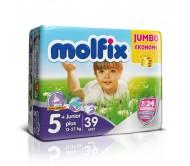 MOLFİX Bebek Bezi Jumbo Paket Junior Plus 5+ Beden (13-27 kg) 39`lu