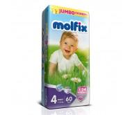 MOLFİX Bebek Bezi Jumbo Paket Maxi 4 Beden (7-18 kg)  60`lı