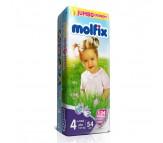 MOLFİX Bebek Bezi Jumbo Paket Maxi Plus 4+ Beden (9-20 kg)  54`lü