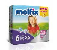 MOLFİX Bebek Bezi Jumbo Paket Extra Large 6 Beden (16+ kg) 36'lı
