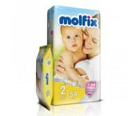 MOLFİX Bebek Bezi İkiz Paket Mini 2 Beden (3-6 kg) 54'lü (Islak Mendil Hediyeli)