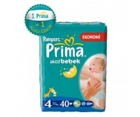 PRİMA Aktif Bebek Maxi İkiz Paket 4 Beden (7-18 kg) 40'lı