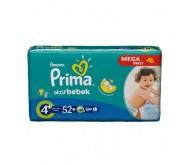 PRİMA Bebek Bezi Aktif Bebek Maxi Plus 4+ Beden (9-16 kg) Mega Paket 52`li