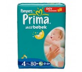 PRİMA Bebek Bezi Aktif Bebek 4 Beden Maxi (7-14 kg) Dev Ekonomi Paketi 80`li