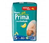 PRİMA Bebek Bezi Aktif Bebek 5 Beden Junior (11-18 kg) Mega Paket 46`lı