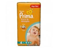 PRİMA Bebek Bezi Kuru ve Hesaplı Maxi Mega Paket 4 Beden (7-14 Kg) 60'lı