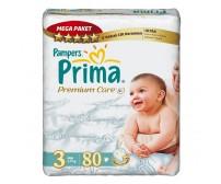 PRİMA Bebek Bezi Premium Care Midi 3 Beden Mega Paket 80`li