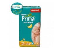 PRİMA Bebek Bezi Yeni Bebek Mini İkiz Paket 2 Beden (3-6 Kg) 54'lü