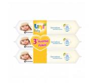 Uni Baby Sensitive Islak Bebek Havlusu 3 'li Avantaj Paketi 56x3 Adet