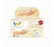 Uni Baby Yenidoğan Islak Pamuk Mendil 3'lü Avantaj Paketi 40x3 Adet