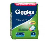 Giggles Yetişkin Hasta Bezi Standart Paket Büyük Boy (100-150 cm) 7'li